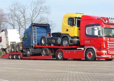 Transport van 3 schadetrucks