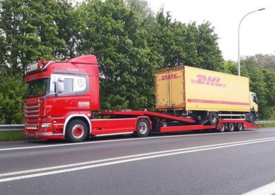 Motorwagen vanuit België op Transport